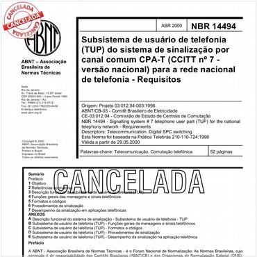 NBR14494 de 04/2000
