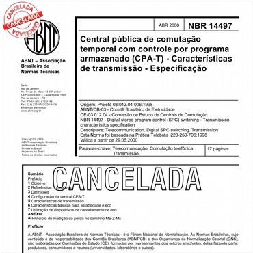 NBR14497 de 04/2000