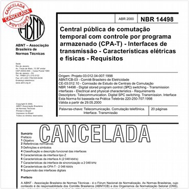 NBR14498 de 04/2000