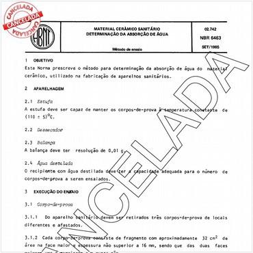 NBR6463 de 09/1985