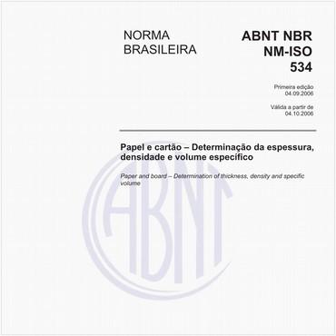NBRNM-ISO534 de 09/2006