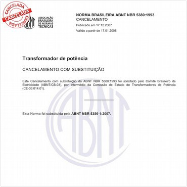 NBR5380 de 05/1993