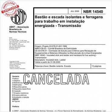 NBR14540 de 07/2000