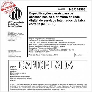 NBR14563 de 07/2000