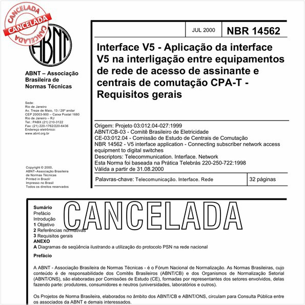 NBR14562 de 09/2010