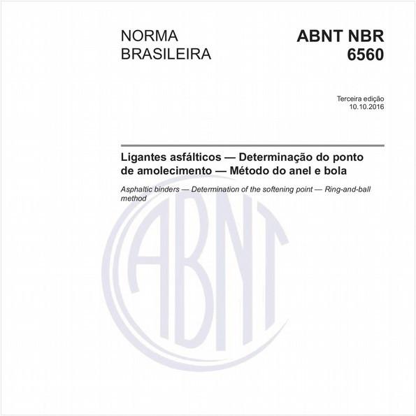 Ligantes asfálticos - Determinação do ponto de amolecimento - Método do anel e bola