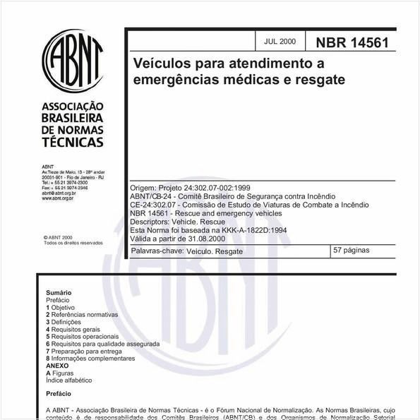 Veículos para atendimento a emergências médicas e resgate