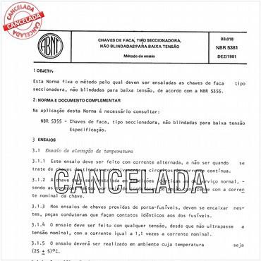 NBR5381 de 12/1981