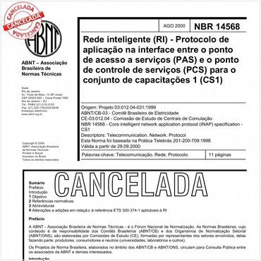 NBR14568 de 08/2000