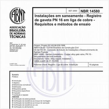 NBR14580 de 09/2000