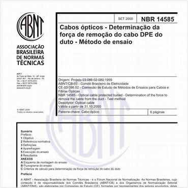 NBR14585 de 09/2000
