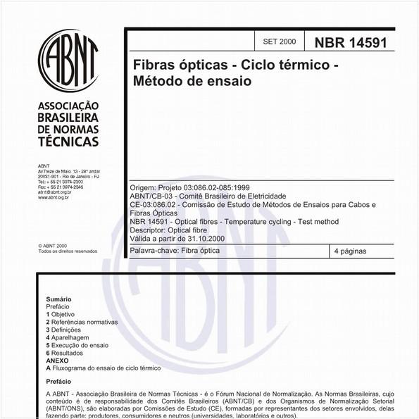 Fibras ópticas - Ciclo térmico - Método de ensaio