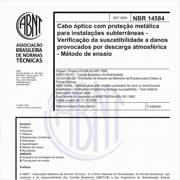 NBR14584 de 09/2000