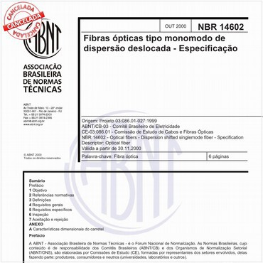 NBR14602 de 10/2000