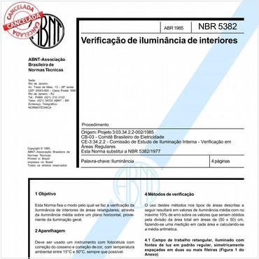 NBR5382 de 04/1985