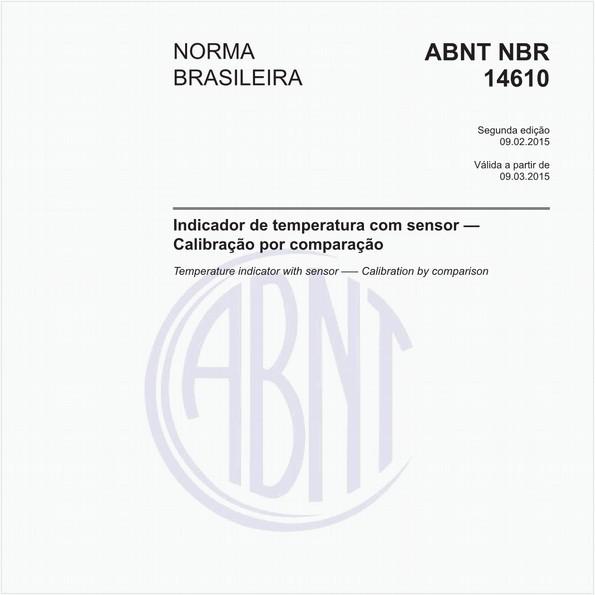 Indicador de temperatura com sensor - Calibração por comparação