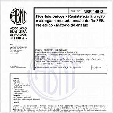 NBR14613 de 10/2000