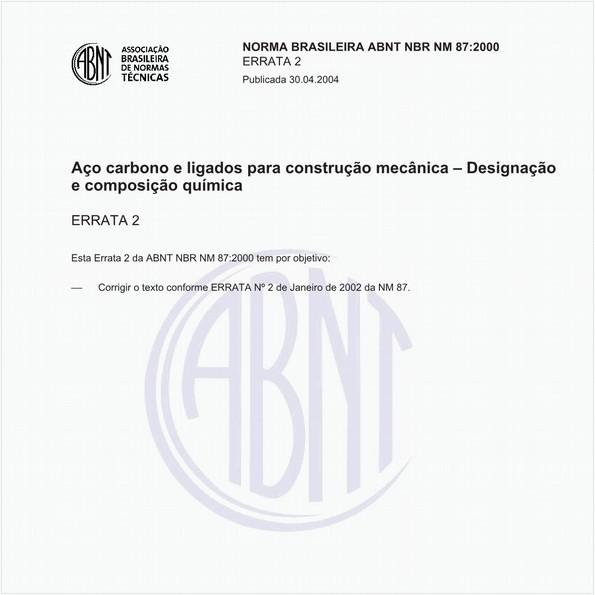 Aços carbono e ligados para construção mecânica - Designação e composição química