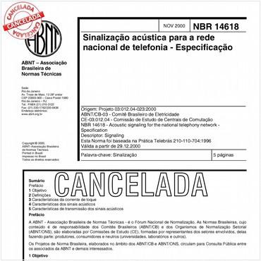 NBR14618 de 11/2000