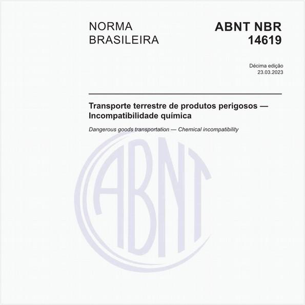 Transporte terrestre de produtos perigosos - Incompatibilidade química