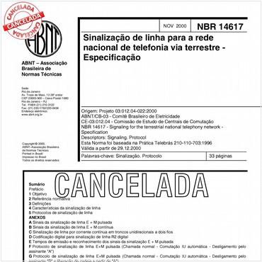 NBR14617 de 11/2000