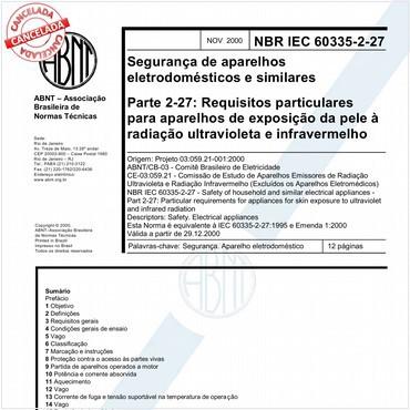 NBRIEC60335-2-27 de 11/2000
