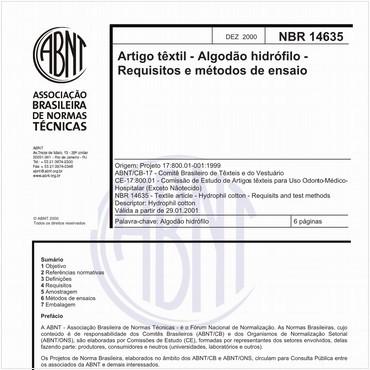 NBR14635 de 12/2000