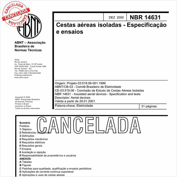 NBR14631 de 09/2010