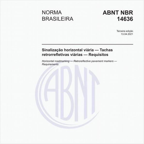 Sinalização horizontal viária — Tachas refletivas viárias — Requisitos