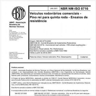 NBRNM-ISO8716 de 01/2001