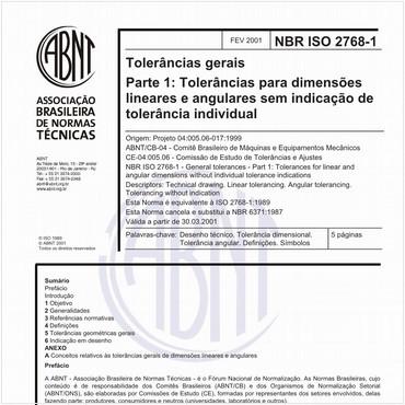 NBRISO2768-1 de 02/2001