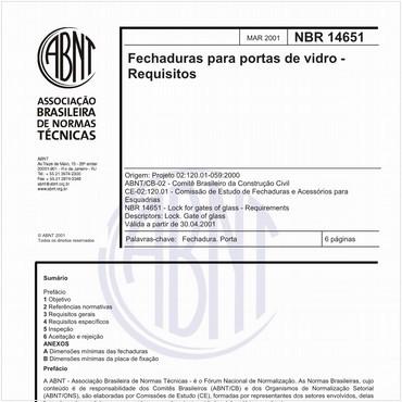 NBR14651 de 03/2001