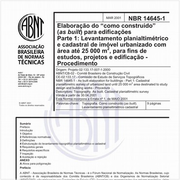 NBR14645-1 de 03/2001