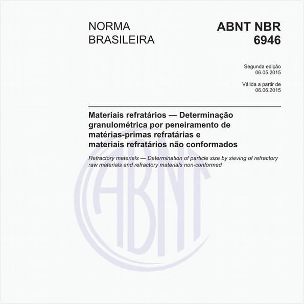 Materiais refratários - Determinação granulométrica por peneiramento de matérias-primas refratárias e materiais refratários não conformados