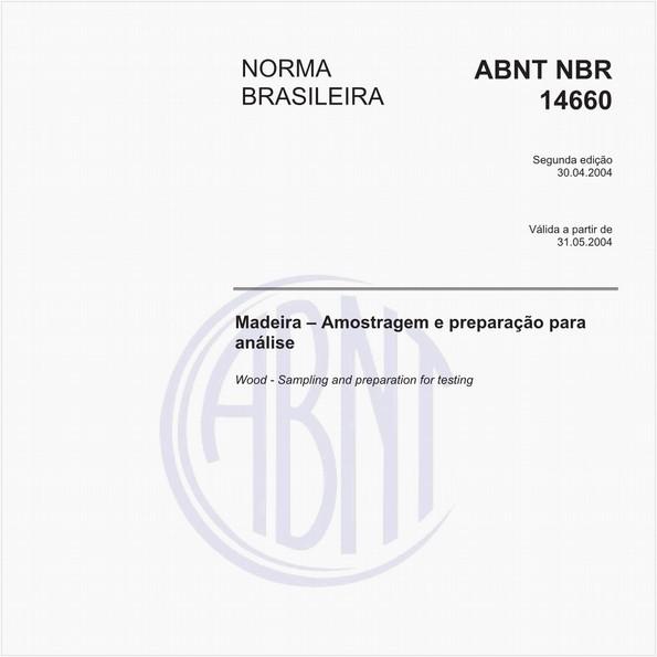 Madeira - Amostragem e preparação para análise