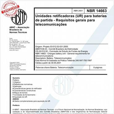 NBR14663 de 04/2001