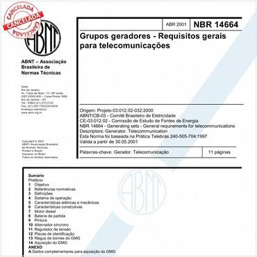 NBR14664 de 04/2001