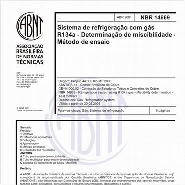 NBR14669 de 04/2001