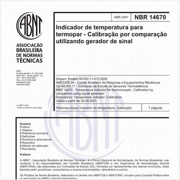 NBR14670 de 04/2001