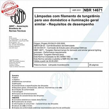 NBR14671 de 04/2001