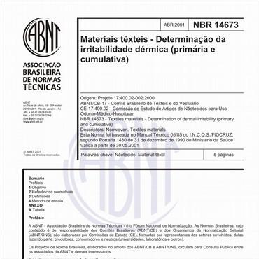 NBR14673 de 04/2001