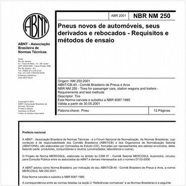 NBRNM250 de 04/2001
