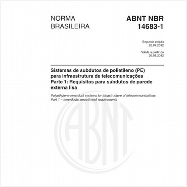 NBR14683-1 de 07/2012