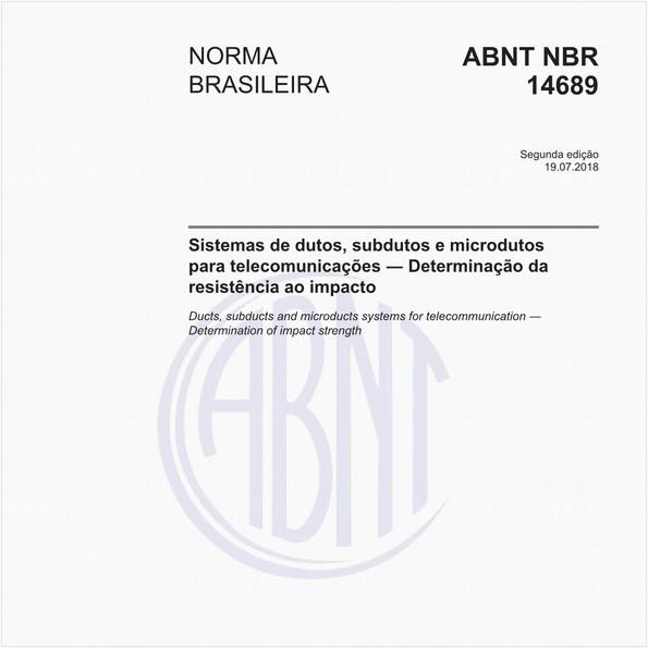 NBR14689 de 07/2018