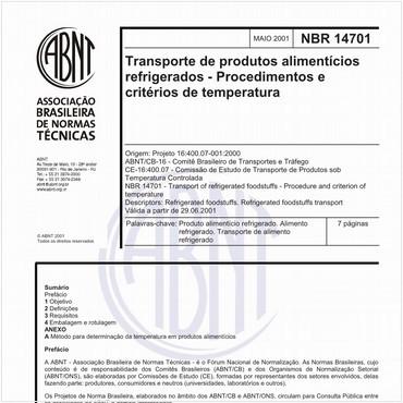 NBR14701 de 05/2001