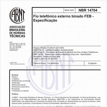 NBR14704 de 05/2001