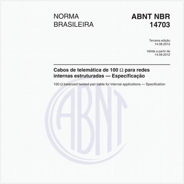 NBR14703 de 08/2012