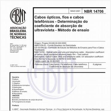 NBR14706 de 05/2001