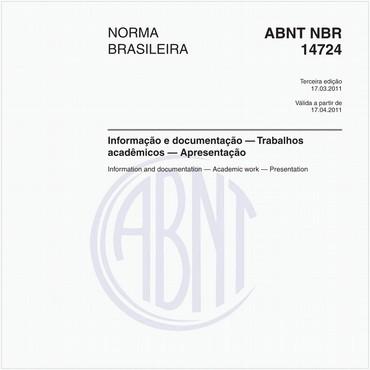 NBR14724 de 03/2011