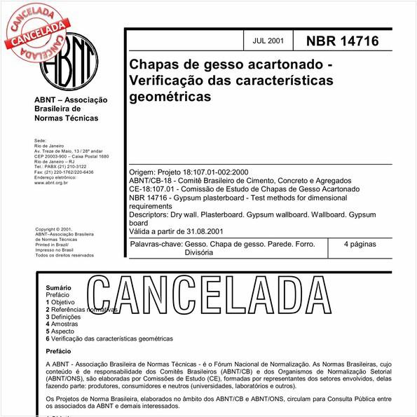 NBR14716 de 06/2010